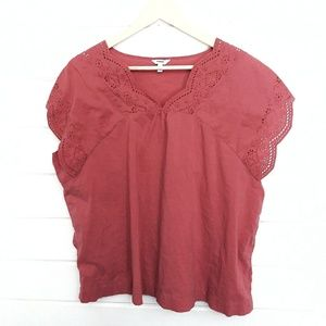 Tops - Dusty Rose Boho Top Size XL